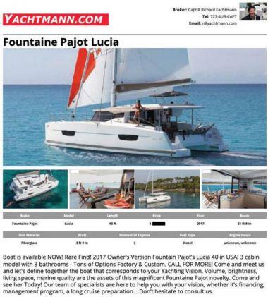 Продажа яхты Clarity - FOUNTAINE PAJOT