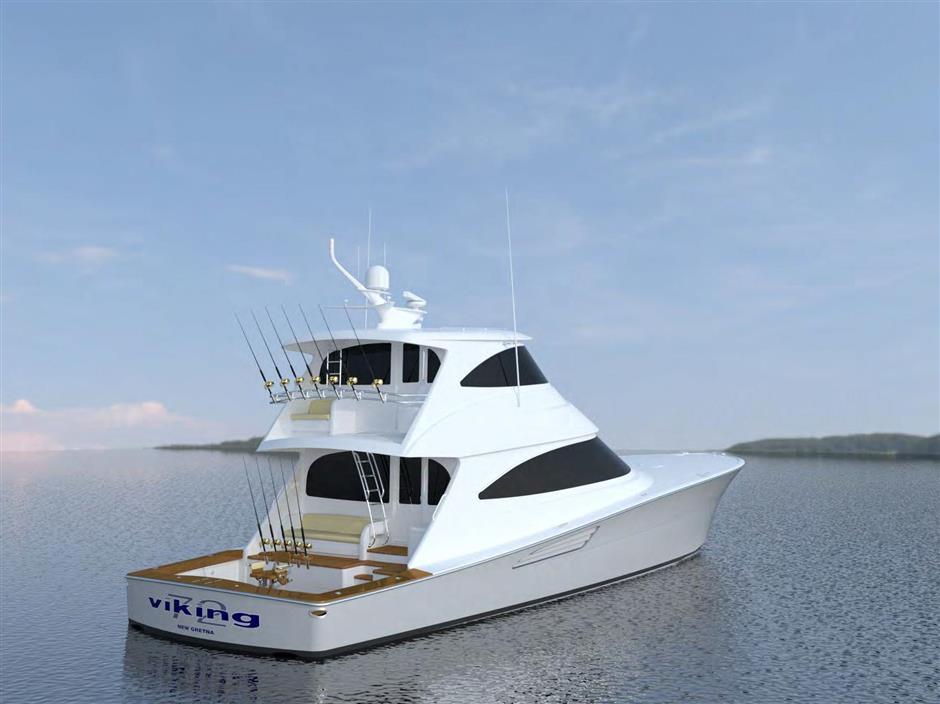 NEW Viking 72 Enclosed Bridge