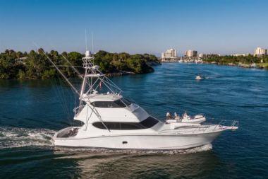 Купить яхту Bank On It - HATTERAS Enclosed Bridge Convertible в Atlantic Yacht and Ship